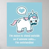 Funny Nerd Unicorn Poster