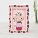 Fun Organic Ice Cream Customizable Cow Birthday Card