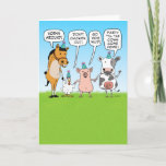 ❤️  Fun Listen To The Party Animals Birthday Card