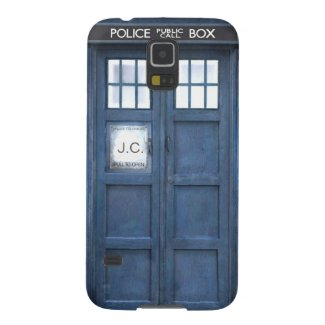 Funny Police call box, add monogram Galaxy S5 Case