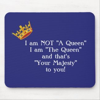 Funny Queen Mouse Pad - Navy mousepad