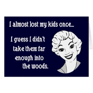 Funny Retro Mom Greeting Card