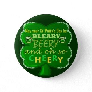 Green Shamrock St Patrick's Beery Cheery T-Shirt