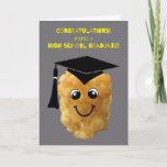 ❤️ Funny Tater Tot High School Graduation Congrats Card
