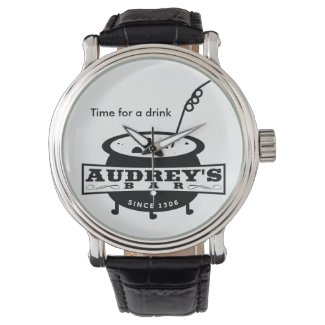 """Funny """"Time for a drink"""" Wrist Watch"""