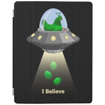 Funny UFO Green Chicken Egg Alien Abduction iPad Smart Cover