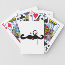 Funny Vintage mustache Card Deck