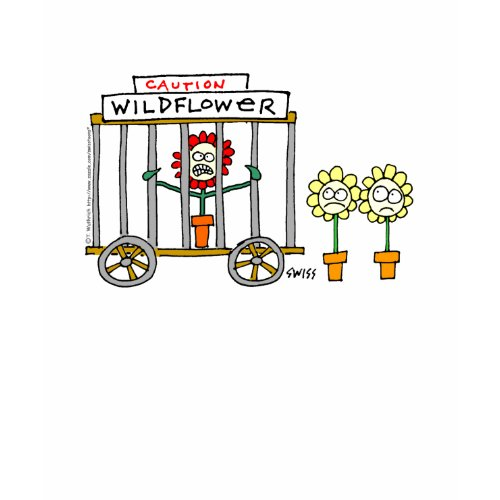 Funny Wildlower Gardener Cartoon Tee zazzle_shirt