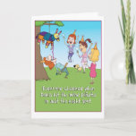 ❤️ Funny Wine Pinata birthday card