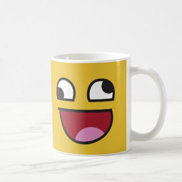 Funny Wonky Eyed Whatever emoji Coffee Mug