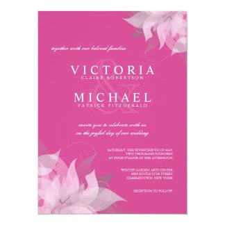 Fl Angle Signature Custom Wedding Invitations Coloring Cricket Fuchsia Pink Front