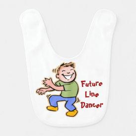 Future Line Dancer! - Baby Boy Baby Bib