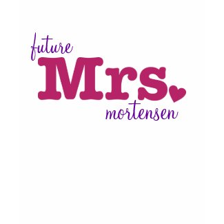 Future Mrs. Customizable T-Shirt shirt