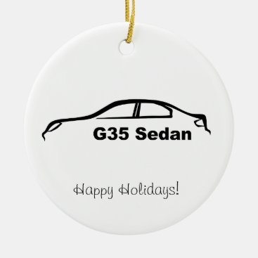 G35 Sedan Black Brushstroke Ceramic Ornament