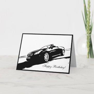 G37 Convertible Car themed Birthday Card