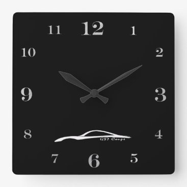 G37 Coupe white brushstroke logo Square Wall Clock