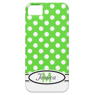 G & W Polka-dot Monogram iPhone 5 Case