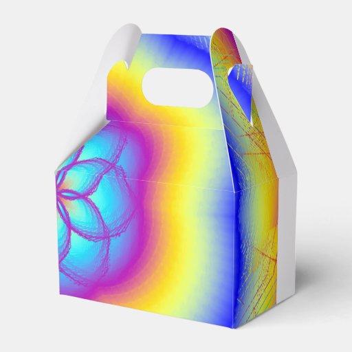 Gable Rainbow Wedding Favor Flower Box Favor Box