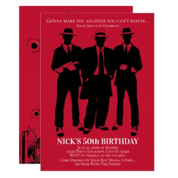 Gangster Party Invitations
