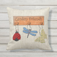 Garden Friends Outdoor Pillow