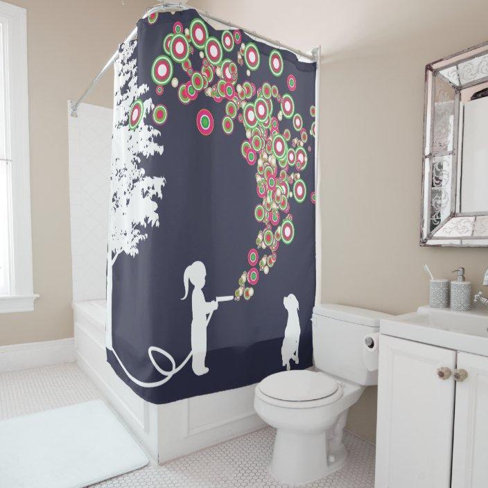 garden graffiti banksy style navy shower curtain zazzle com