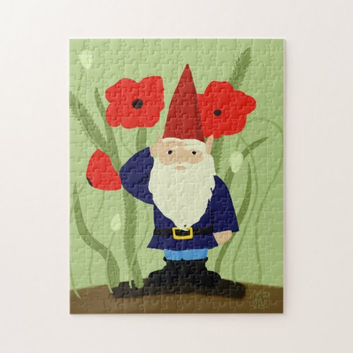 Garden of Remembrance Gnome Jigsaw Puzzle puzzle