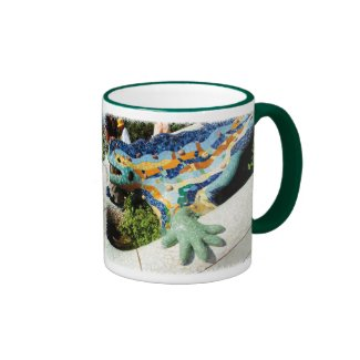 Gaudi Lizard Mosaics Mugs