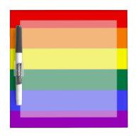 Gay Pride Rainbow Flag Dry Erase Board