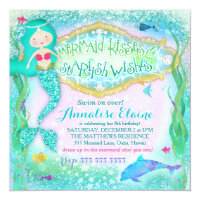 GC Magical Mermaid Invitation Glitter