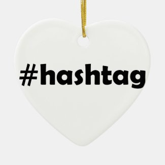 Geeky #hashtag hashtag number sign christmas ornament