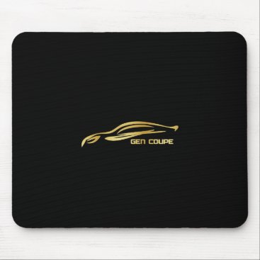 Gen Coupe Gold Silhouette Logo Mouse Pad
