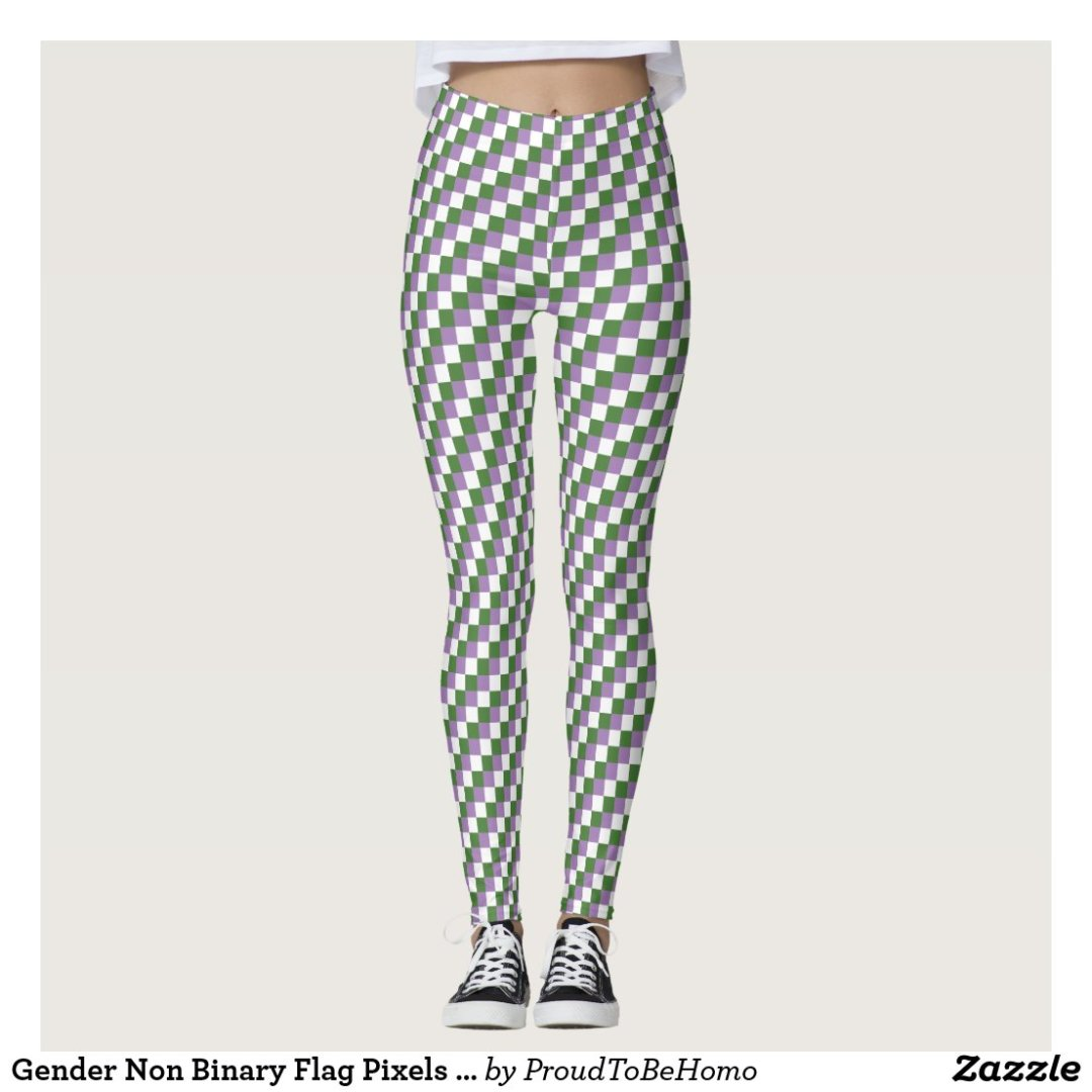 Gender Non Binary Flag Pixels LGBT Pride Gaymer Leggings