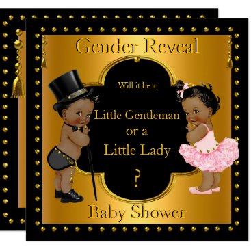 Gender Reveal Baby Shower Boy or Girl Ethnic Card