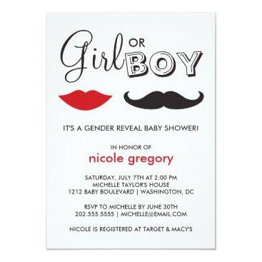 Gender Reveal Baby Shower Card