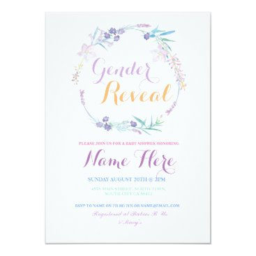 Gender Reveal Baby Shower Pink Floral Party Invite
