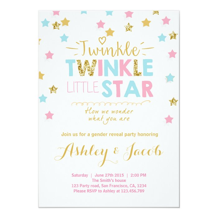 Baby Shower Reveal Invitations
