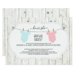Gender Reveal Invitation | Rustic Clothesline