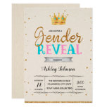 Gender reveal prince princess invitation