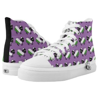 Genderqueer Pride Cute Sheep LGBT Printed Shoes