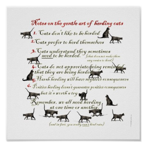 Gentle Art of Herding Cats Poster