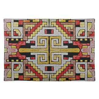 Geomethric Tribal/Ethnic Pattern Place Mat