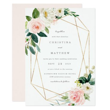 Geometric Spring Romance Wedding Invitation