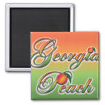 Georgia Peach - Cursive magnets
