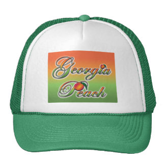 Georgia Peach - Cursive Mesh Hats