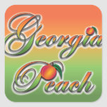 Georgia Peach - Cursive stickers