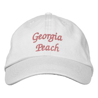 Georgia Peach Embroidered Hat