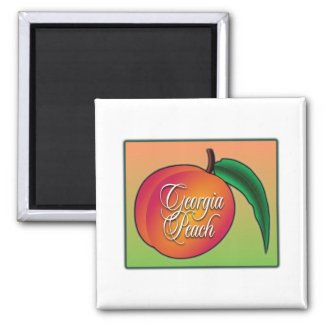 Georgia Peach Refrigerator Magnets