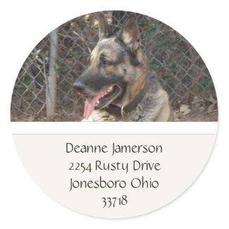 German Shepherd Address Stickers sticker
