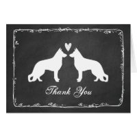 German Shepherd Dogs Wedding Thank You Card
