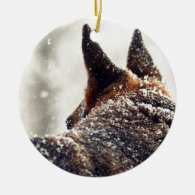 German Shepherd Photo Christmas Ornament